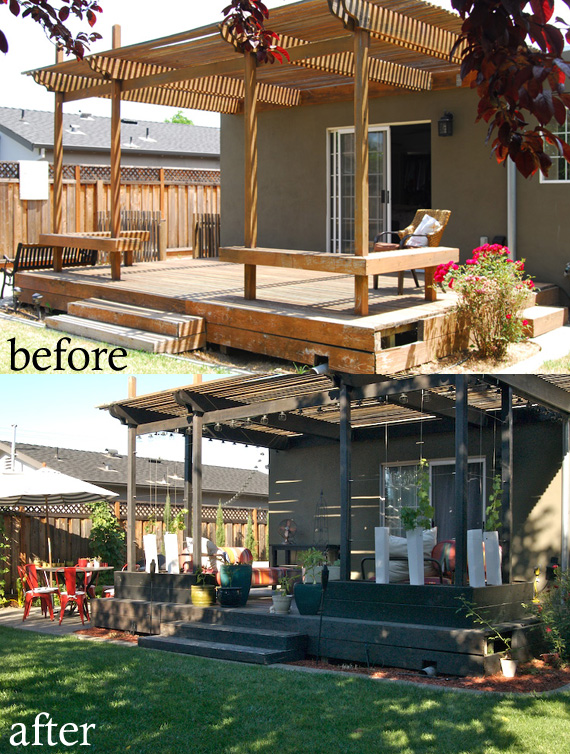 Before and After: Back Porch