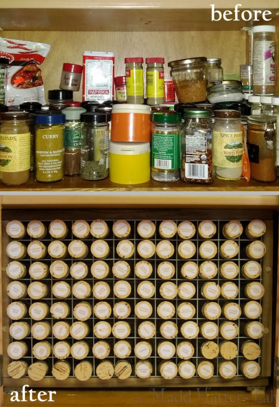Test Tube Spice Rack - Before & After